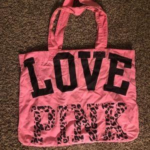 Hot Pink Pink Victoria's Secret Leopard Tote